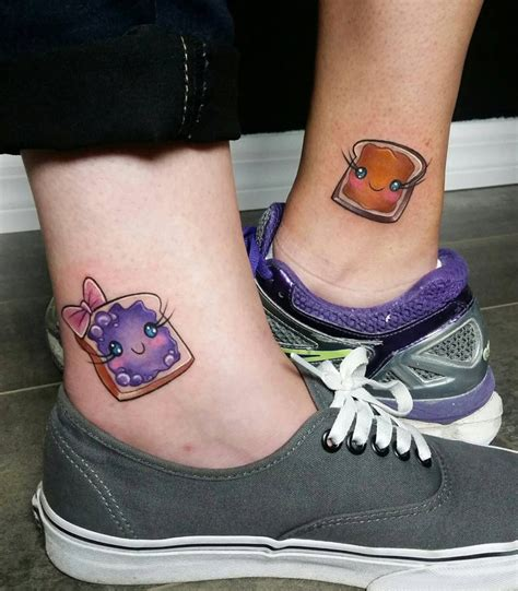 peanut butter jelly tattoo peanut butter and jelly sandwich best ideas designs