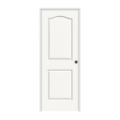 jeld wen 24 in x 80 in princeton white painted left