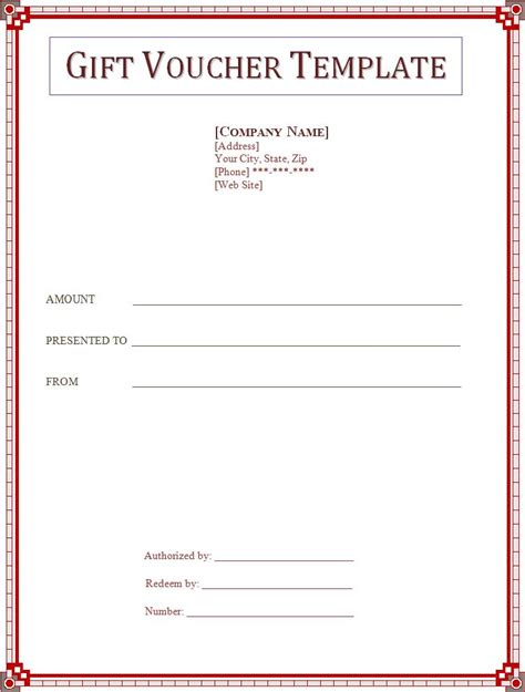 gift voucher template free printable word templates