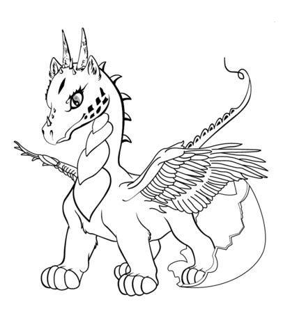 coloring pages of baby dragons baby dragon coloring page free printable coloring pages