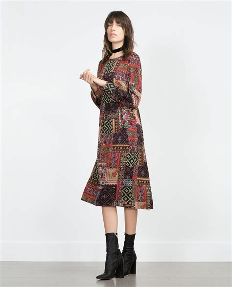 Patchwork Fashion - zara midi patchwork dress dresscodes