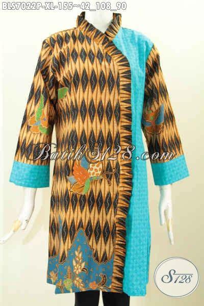 Kain Batik Eslilin Dan Emboss baju batik cewek kombinasi kain emboss blus batik modern