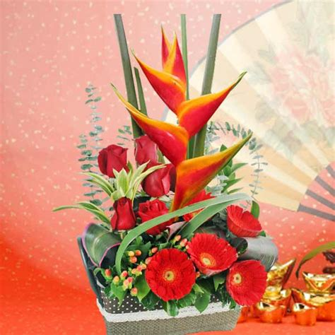 new year flower arrangement singapore new year flower delivery singapore buy lunar new