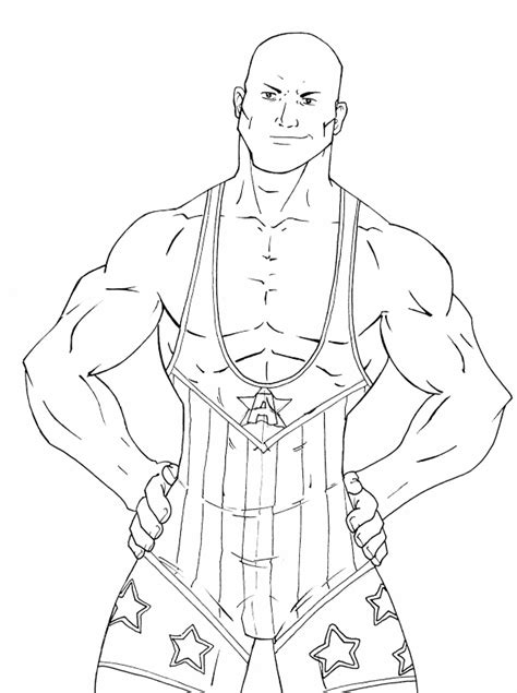 Free Printable Wwe Coloring Pages For Kids Wrestler Coloring Pages