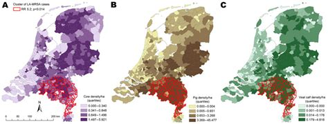 netherlands density map figure 3 livestock density as risk factor for livestock