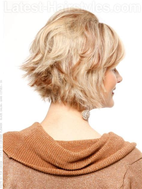 short hair flipped up in back hairstyle tutorial layered flipped cut with volume at