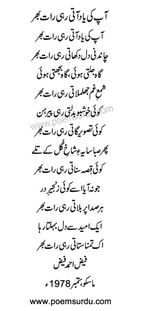 Aapki Yaad Aati Rahi Raat Bhar Ghazal Lyrics by Faiz Ahmed