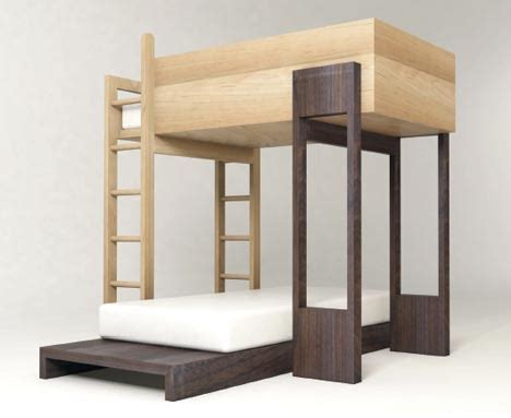 bunk beds that come apart simple modular wooden bunk beds to stack or stagger