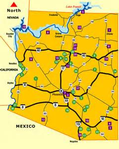 arizona state park map arizona state parks national parks in arizona map