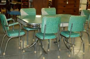 Green Kitchen Table Chrome Vintage 1950 S Formica Kitchen Table And Chairs