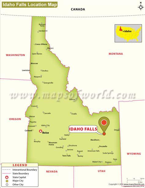 idaho map usa where is idaho falls located in idaho usa