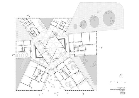drawing plan kindergarten lotte kavakava architects archdaily