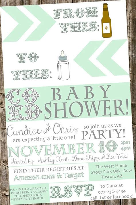 Coed Baby Shower Etiquette by Best 25 Coed Baby Shower Invitations Ideas On