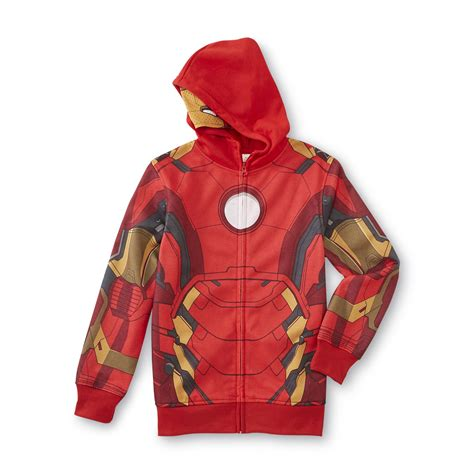 Hoodie Ironman 1 marvel iron boy s hoodie jacket clothing shoes jewelry clothing boys clothes