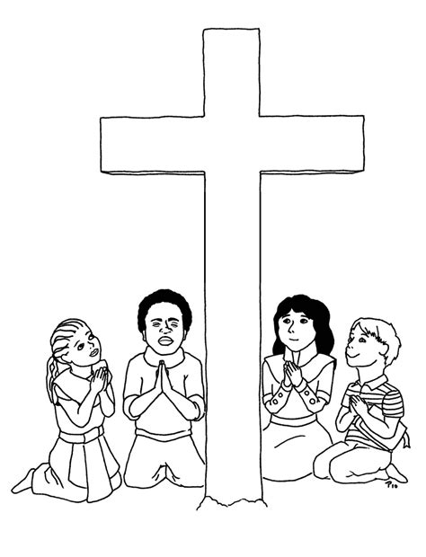 free coloring pages of christian crucifix