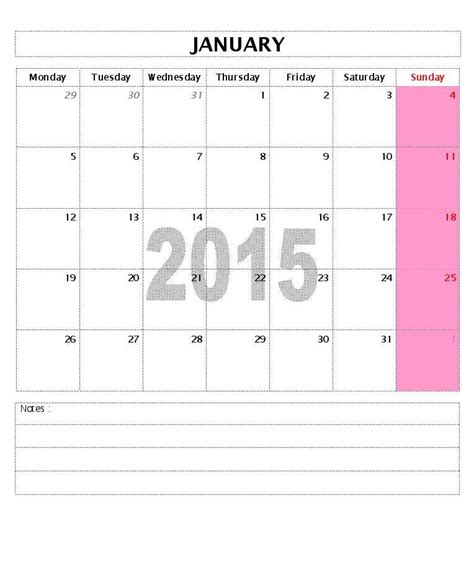 microsoft word 2015 monthly calendar template 2015 calendar templates microsoft and open office templates