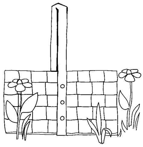 coloring page of empty easter basket easter basket coloring pages part ii