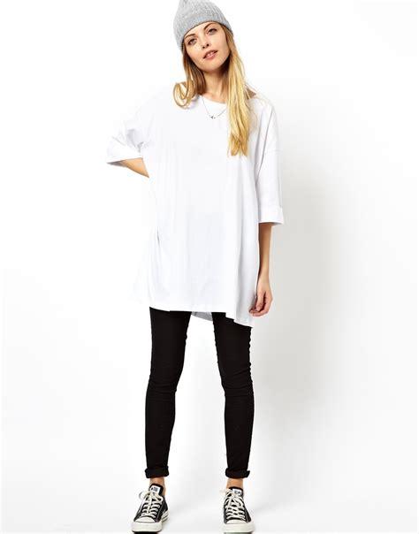 Asos Oversized T Shirt asos oversized t shirt in white lyst