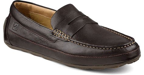 top sider loafers sperry top sider hden leather loafers in brown