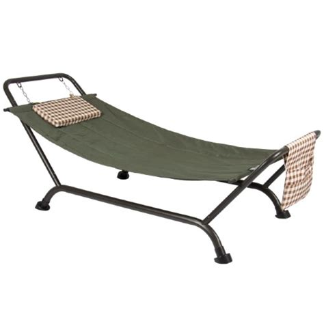 Patio Hammock With Stand Deluxe Pillow Hammock With Stand Supports 500lb Outdoor