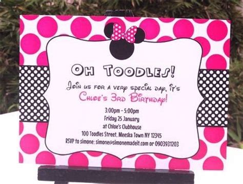 Minnie Mouse Birthday Party Invitations Free Invitation Templates Drevio Minnie Mouse Invitation Template