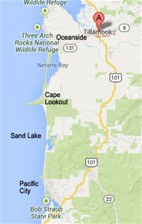 map of oceanside oregon oregon coast three capes tour pacific city