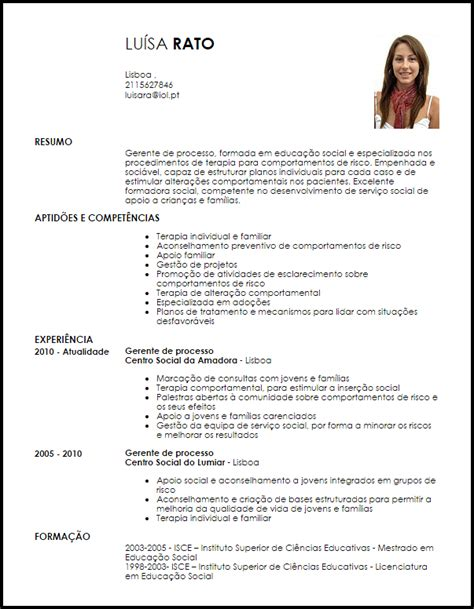 Modelo De Curriculum Vitae Gerente Administrativo Modelo Curriculum Vitae Gerente De Processo Livecareer