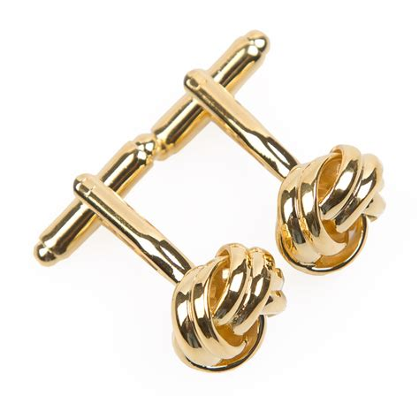gold plated knot gold plated cufflinks