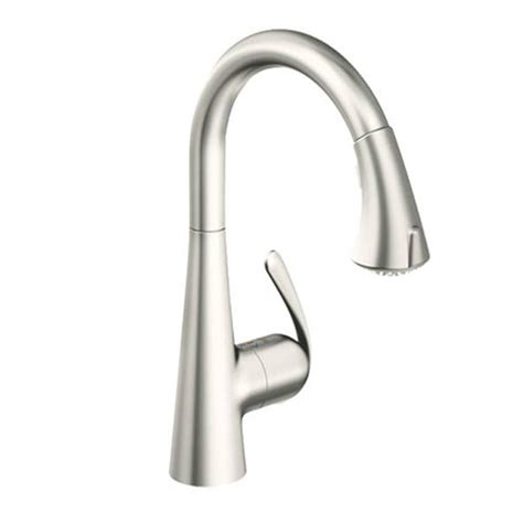 Buy Zedra Pull Out Spray Sink Mixer Brushed Steel   32 294