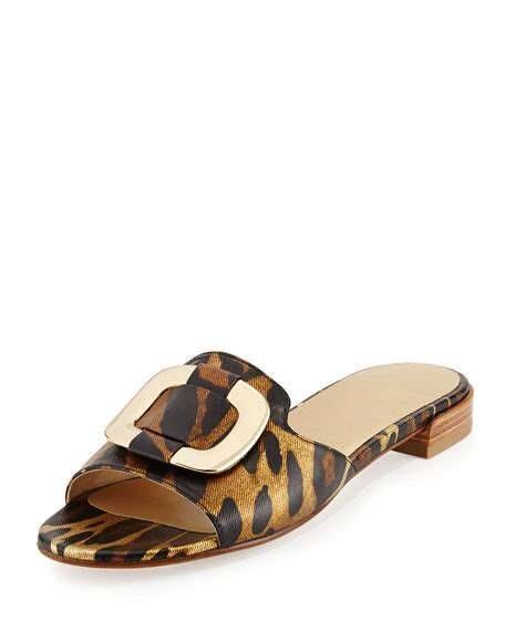 odeon sandals stuart weitzman odeon ornament slide sandal jaguar