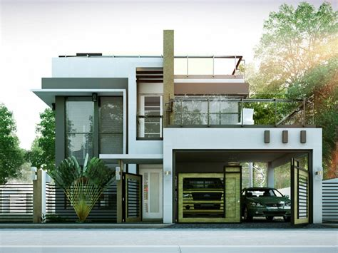 2 storey modern house floor plan modern house designs series mhd 2014010 pinoy eplans