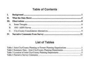 Table Of Contents Apa Style Template by Books Zucker Systems