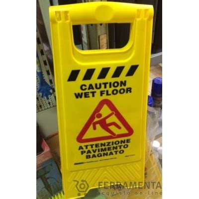 attenzione pavimento bagnato 0466 quot attenzione pavimento bagnato quot cartello a