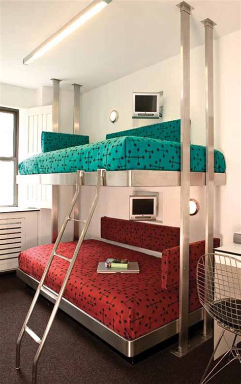 Contemporary Bunk Bed Contemporary Stainless Steel Bunk Beds By Neo Metro