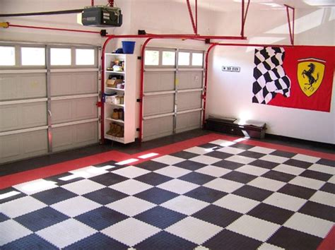 vinyl garage floor photos flooring tiles garage remodel conversion guides gray hexagon floor tile