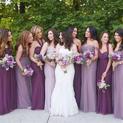 bridesmaid colors best 25 purple bridesmaid dresses ideas on