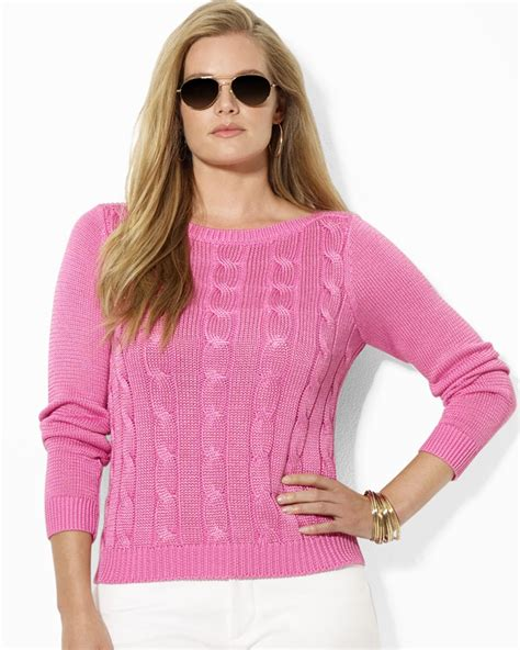 boat neck glittery knitted sweater pink cable sweater her sweater