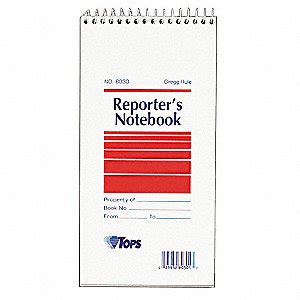 Reporters Notebook August 28 2012 by Tops Reporter S Notebook 4 X 8 In Pk12 35x051 Top8030 Grainger