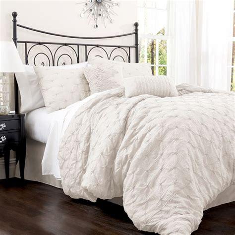 lush decor belle comforter set lush decor belle 4 piece comforter set king white