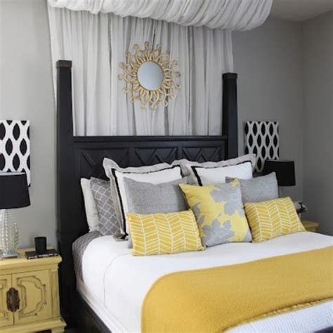 gray yellow bedroom yellow and gray bedroom for the home pinterest
