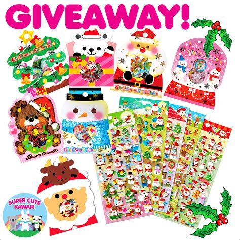 Sticker Giveaway - kawaii depot christmas sticker giveaway closed super cute kawaii
