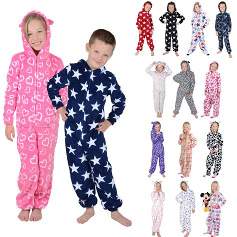 Marni Does Pyjamas Actually Day Clothes by Boys Hooded Fleece All In One Pyjamas Onesie Pj