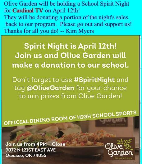 olive garden owasso april 2016 calendar events collinsville okla www cvilleok