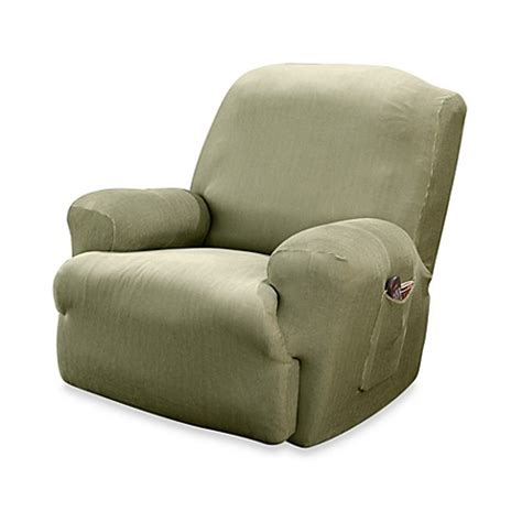 sure fit recliner slipcovers sure fit 174 stretch stripe recliner slipcover bed bath