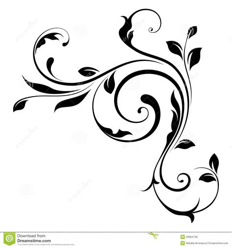 svg pattern element design element swirls 4 royalty free stock images