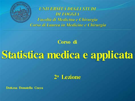 statistica medica dispense statistica medica medie e variabili dispensa dispense