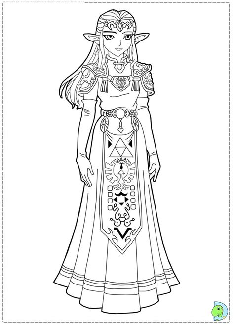 princess zelda coloring pages az coloring pages