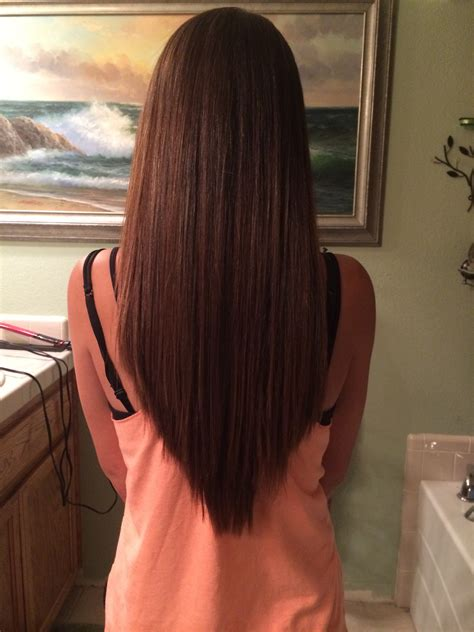 hairstyles that have long whisps in back and short in the front love my v layered haircut we heart it beauty