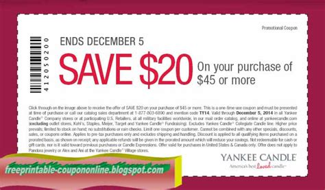 printable yankee candle coupons november 2015 printable coupons 2017 yankee candle coupons