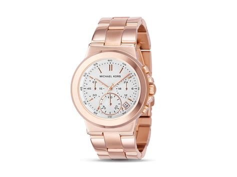 michael kors michael brushed gold 38mm in pink